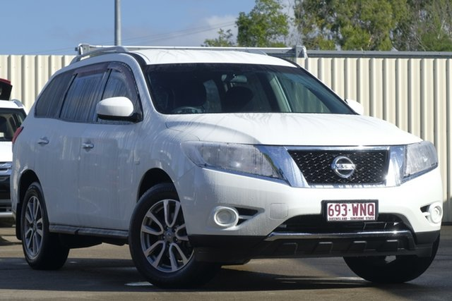 Used Nissan Pathfinder R52 MY15 ST X-tronic 2WD, 2016 Nissan Pathfinder R52 MY15 ST X-tronic 2WD White 1 Speed Constant Variable Wagon