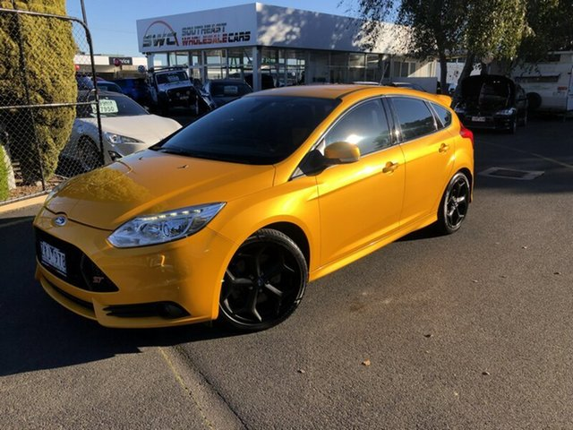 Used Ford Focus LW MkII ST, 2012 Ford Focus LW MkII ST Yellow 6 Speed Manual Hatchback