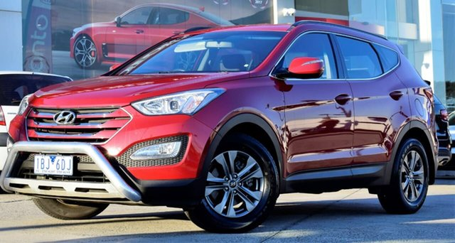 Used Hyundai Santa Fe DM2 MY15 Active, 2014 Hyundai Santa Fe DM2 MY15 Active Red/Black 6 Speed Sports Automatic Wagon