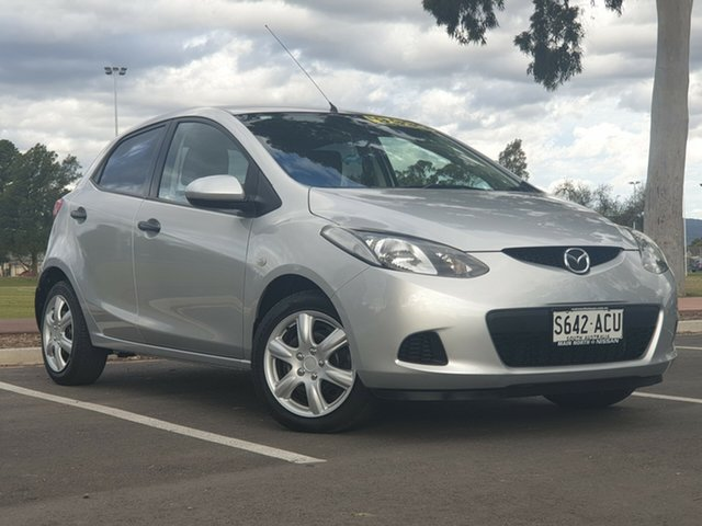 Used Mazda 2 DE10Y1 Neo, 2009 Mazda 2 DE10Y1 Neo Silver 5 Speed Manual Hatchback