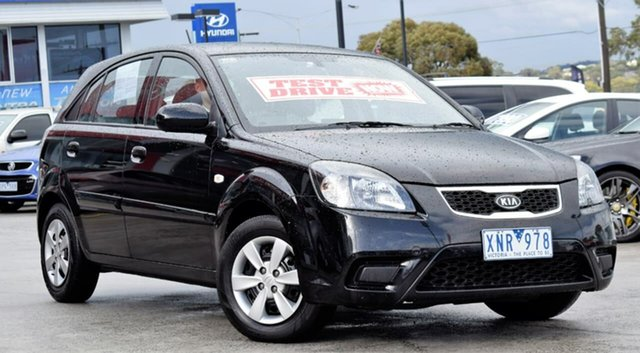 Used Kia Rio JB MY10 S, 2010 Kia Rio JB MY10 S Black 4 Speed Automatic Hatchback