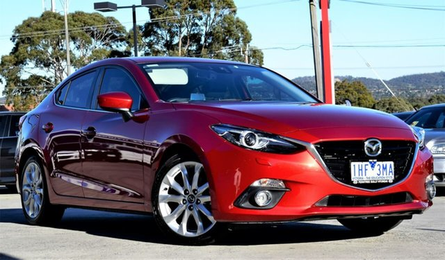 Used Mazda 3 BN5238 SP25 SKYACTIV-Drive GT, 2016 Mazda 3 BN5238 SP25 SKYACTIV-Drive GT Red/Black 6 Speed Sports Automatic Sedan