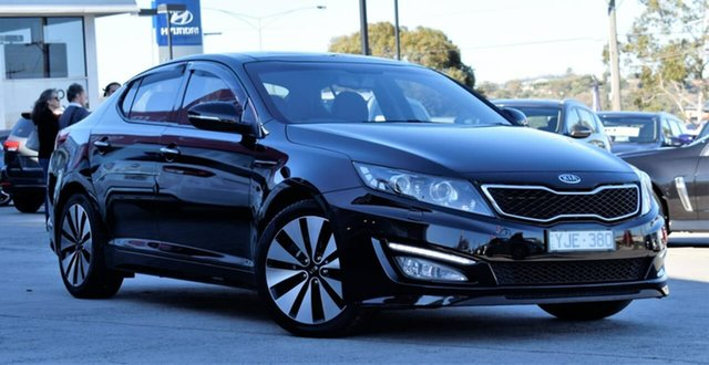 Used Kia Optima TF MY11 Platinum, 2011 Kia Optima TF MY11 Platinum Black 6 Speed Sports Automatic Sedan