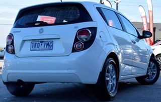 2013 Holden Barina TM MY13 CD White 6 Speed Automatic Hatchback