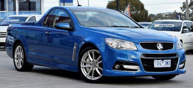 Used Holden Ute VF MY14 SS V Ute Redline, 2014 Holden Ute VF MY14 SS V Ute Redline Blue 6 Speed Manual Utility