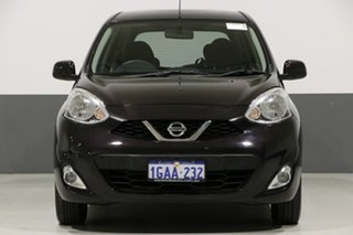 2015 Nissan Micra K13 MY13 TI Black 4 Speed Automatic Hatchback.