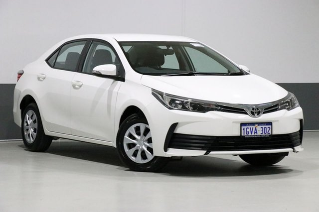 Used Toyota Corolla ZRE172R MY17 Ascent, 2017 Toyota Corolla ZRE172R MY17 Ascent White 7 Speed CVT Auto Sequential Sedan