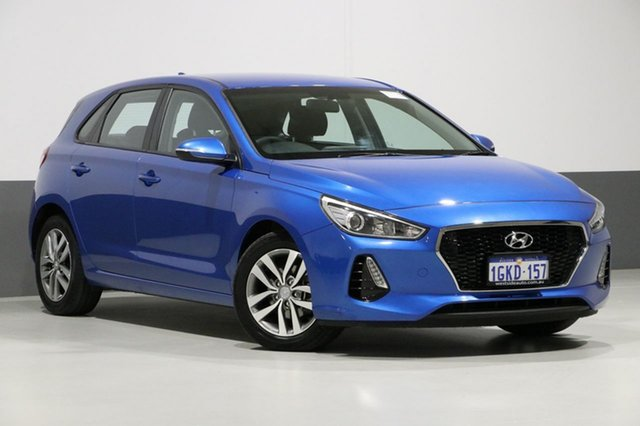 Used Hyundai i30 PD Active, 2017 Hyundai i30 PD Active Blue 6 Speed Auto Sequential Hatchback
