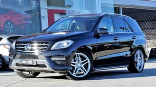 2013 Mercedes-Benz ML500 W166 7G-Tronic + Black 7 Speed Sports Automatic Wagon.