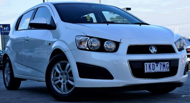 Used Holden Barina TM MY13 CD, 2013 Holden Barina TM MY13 CD White 6 Speed Automatic Hatchback