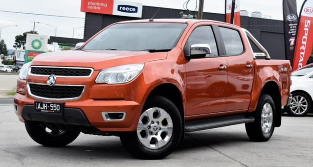 Used Holden Colorado RG MY16 LTZ Crew Cab, 2016 Holden Colorado RG MY16 LTZ Crew Cab Orange 6 Speed Sports Automatic Utility