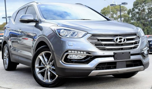 Used Hyundai Santa Fe DM3 MY17 Highlander, 2017 Hyundai Santa Fe DM3 MY17 Highlander Titanium Silver 6 Speed Sports Automatic Wagon