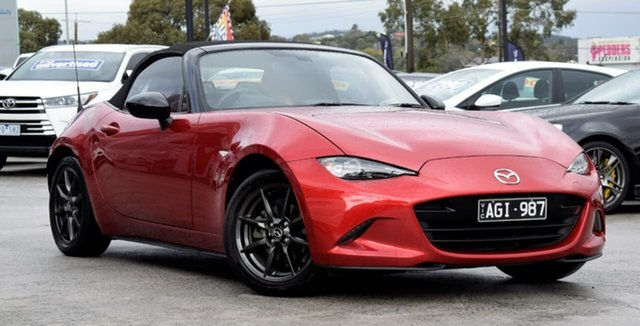 Used Mazda MX-5 ND SKYACTIV-MT, 2015 Mazda MX-5 ND SKYACTIV-MT Red 6 Speed Manual Roadster
