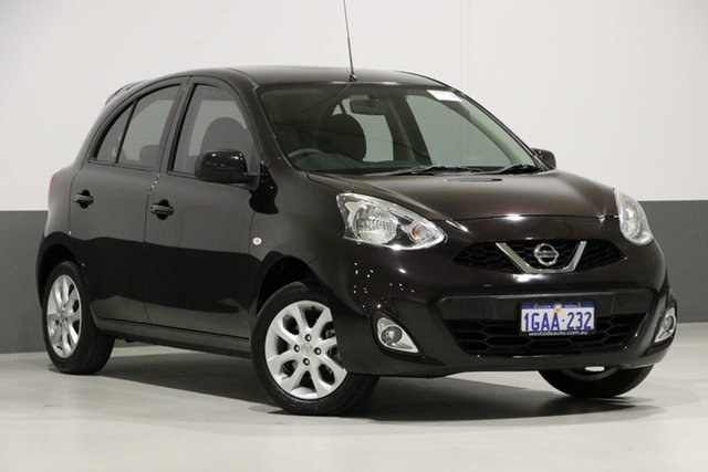 Used Nissan Micra K13 MY13 TI, 2015 Nissan Micra K13 MY13 TI Black 4 Speed Automatic Hatchback