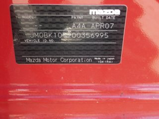 2007 Mazda 3 BK10F2 Maxx Red 5 Speed Manual Sedan