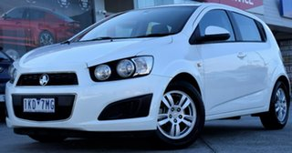 2013 Holden Barina TM MY13 CD White 6 Speed Automatic Hatchback.