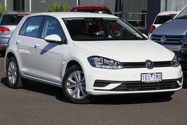 Demo Volkswagen Golf 7.5 MY19.5 110TSI DSG Trendline, 2019 Volkswagen Golf 7.5 MY19.5 110TSI DSG Trendline Pure White 7 Speed Sports Automatic Dual Clutch