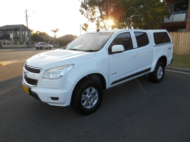 Used Holden Colorado RG LX (4x4), 2012 Holden Colorado RG LX (4x4) White 6 Speed Automatic Crew Cab Pickup