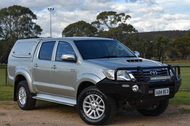 Used Toyota Hilux KUN26R MY12 SR5 Double Cab, 2012 Toyota Hilux KUN26R MY12 SR5 Double Cab Silver 5 Speed Manual Utility