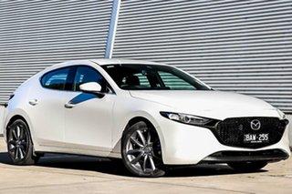 2019 Mazda 3 BP2HLA G25 SKYACTIV-Drive GT Snowflake White Pearl 6 Speed Sports Automatic Hatchback.