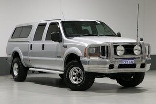 2006 Ford F250 RN XLT (4x4) Silver 4 Speed Automatic Crew Cab Pickup.