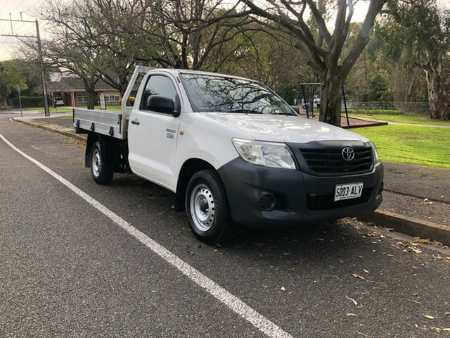 Used Toyota Hilux TGN16R MY10 Workmate 4x2, 2011 Toyota Hilux TGN16R MY10 Workmate 4x2 White 5 Speed Manual Utility