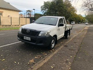 2011 Toyota Hilux TGN16R MY10 Workmate 4x2 White 5 Speed Manual Utility.