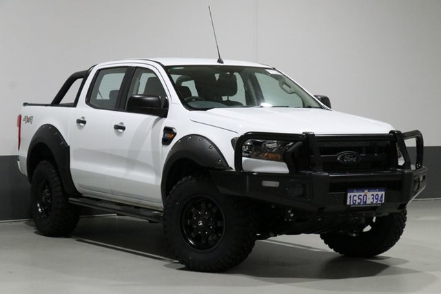 Used Ford Ranger PX MkII MY17 Update XLS 3.2 (4x4), 2017 Ford Ranger PX MkII MY17 Update XLS 3.2 (4x4) White 6 Speed Manual Dual Cab Utility