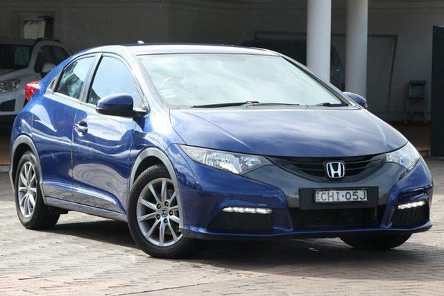Used Honda Civic 9th Gen VTi-S, 2012 Honda Civic 9th Gen VTi-S Blue 5 Speed Sports Automatic Hatchback