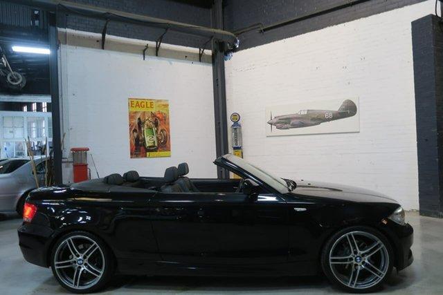 Used BMW 120i E88 LCI MY0911 Steptronic, 2011 BMW 120i E88 LCI MY0911 Steptronic Black 6 Speed Sports Automatic Convertible