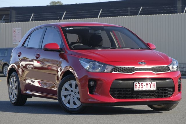 Used Kia Rio YB MY17 S, 2017 Kia Rio YB MY17 S Signal Red 4 Speed Sports Automatic Hatchback