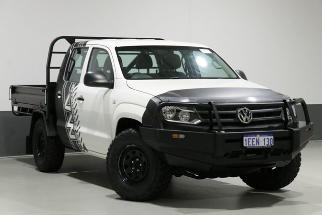 Used Volkswagen Amarok 2H MY12.5 TDI400 (4x4), 2012 Volkswagen Amarok 2H MY12.5 TDI400 (4x4) White 6 Speed Manual Dual Cab Chassis
