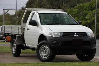 2014 Mitsubishi Triton MN MY15 GL 4x2 White 5 Speed Manual Cab Chassis.