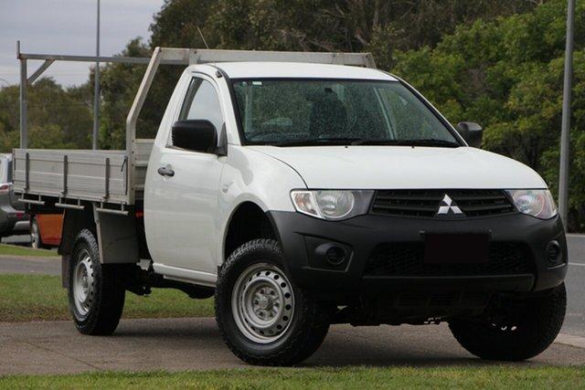 Used Mitsubishi Triton MN MY15 GL 4x2, 2014 Mitsubishi Triton MN MY15 GL 4x2 White 5 Speed Manual Cab Chassis