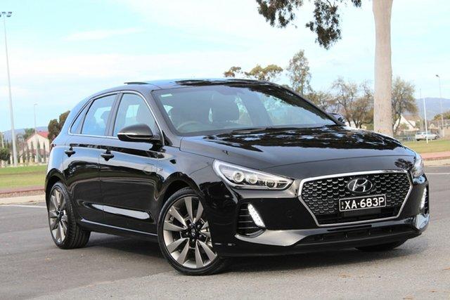 Used Hyundai i30 PD2 MY18 SR D-CT Premium, 2018 Hyundai i30 PD2 MY18 SR D-CT Premium Black 7 Speed Sports Automatic Dual Clutch Hatchback