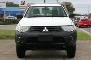 2014 Mitsubishi Triton MN MY15 GL 4x2 White 5 Speed Manual Cab Chassis