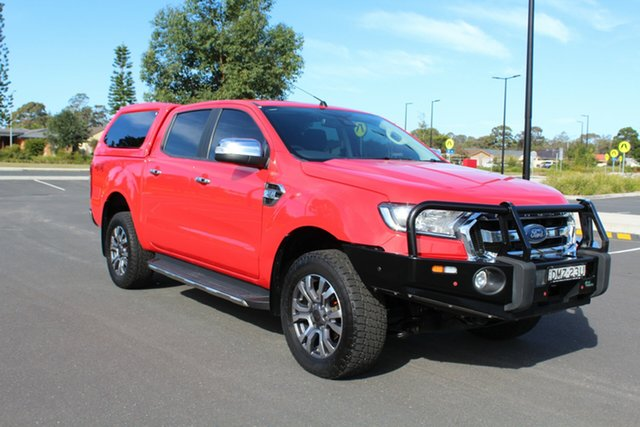 Used Ford Ranger PX MkII XLT Double Cab, 2016 Ford Ranger PX MkII XLT Double Cab Race Red 6 Speed Sports Automatic Utility
