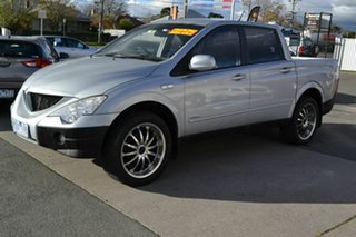 2007 Ssangyong Actyon Sports 4x4 Silver Manual Utility.