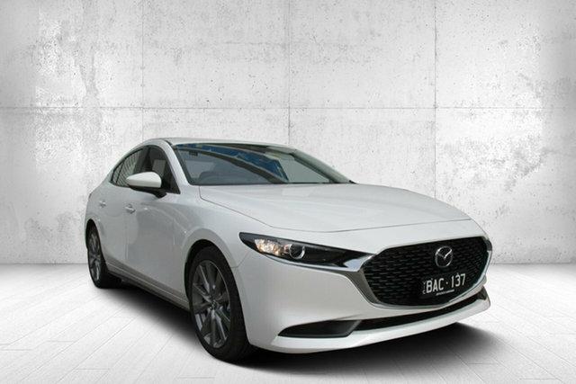 Demo Mazda 3 BP2S7A G20 SKYACTIV-Drive Evolve, 2019 Mazda 3 BP2S7A G20 SKYACTIV-Drive Evolve White 6 Speed Sports Automatic Sedan