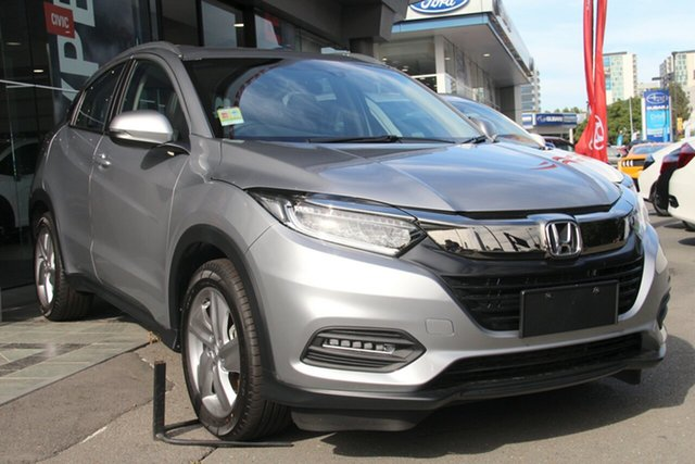 Demo Honda HR-V MY19 +Luxe, 2019 Honda HR-V MY19 +Luxe Lunar Silver 1 Speed Constant Variable Hatchback
