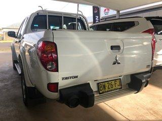 2013 Mitsubishi Triton MN MY14 GLX (4x4) White 4 Speed Automatic 4x4 Double Cab Utility.