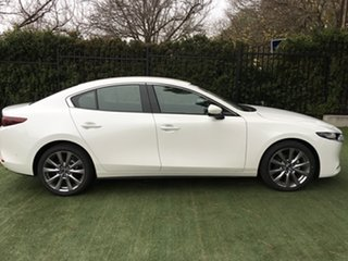 2019 Mazda 3 BP2S7A G20 SKYACTIV-Drive Touring White Pearl 6 Speed Sports Automatic Sedan.