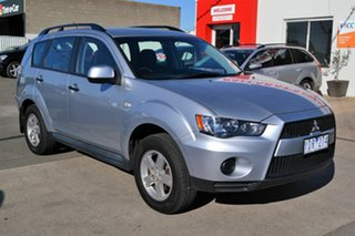 2011 Mitsubishi Outlander ZH MY11 LS Silver 6 Speed CVT Auto Sequential Wagon