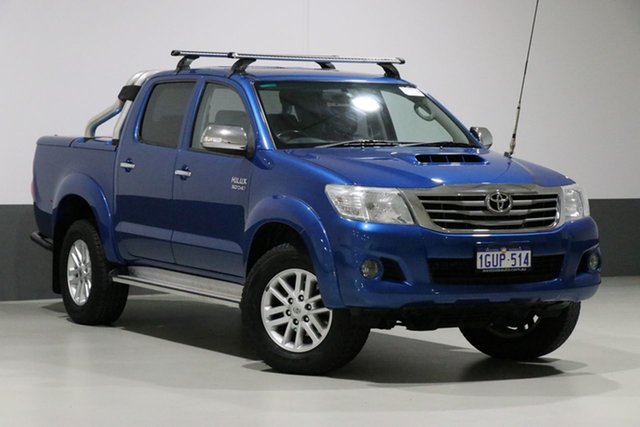 Used Toyota Hilux KUN26R MY12 SR5 (4x4), 2013 Toyota Hilux KUN26R MY12 SR5 (4x4) Tidal Blue 4 Speed Automatic Dual Cab Pick-up