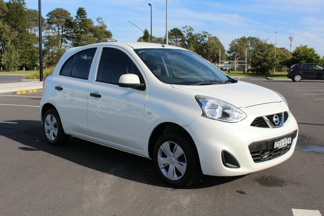 Used Nissan Micra K13 Series 4 MY15 ST, 2015 Nissan Micra K13 Series 4 MY15 ST White 4 Speed Automatic Hatchback