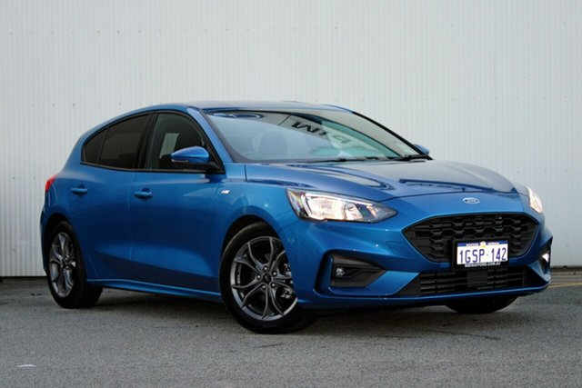 Demo Ford Focus SA 2019.25MY ST-Line, 2018 Ford Focus SA 2019.25MY ST-Line Desert Island Blue 8 Speed Automatic Hatchback