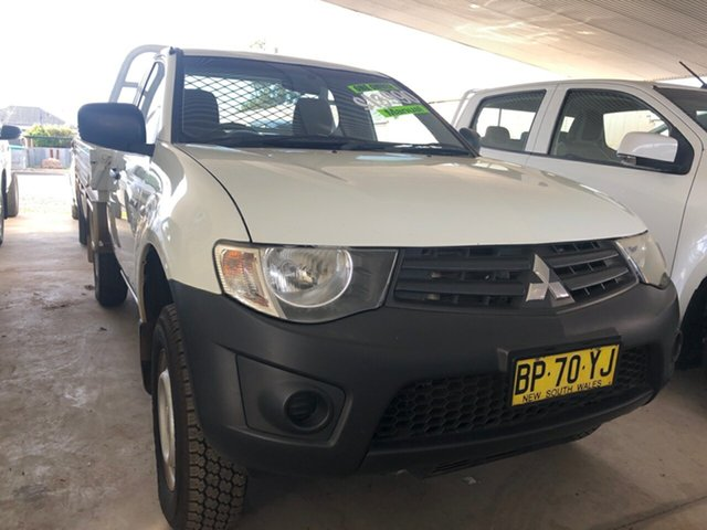Used Mitsubishi Triton MN MY12 GLX, 2013 Mitsubishi Triton MN MY12 GLX White 5 Speed Manual Utility