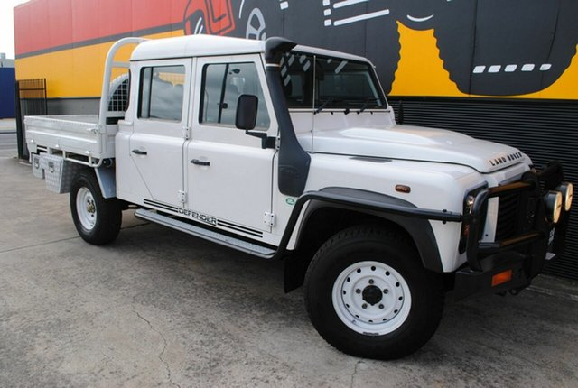 Used Land Rover Defender 130 09MY Crew Cab, 2009 Land Rover Defender 130 09MY Crew Cab Alaska White 6 Speed Manual Cab Chassis
