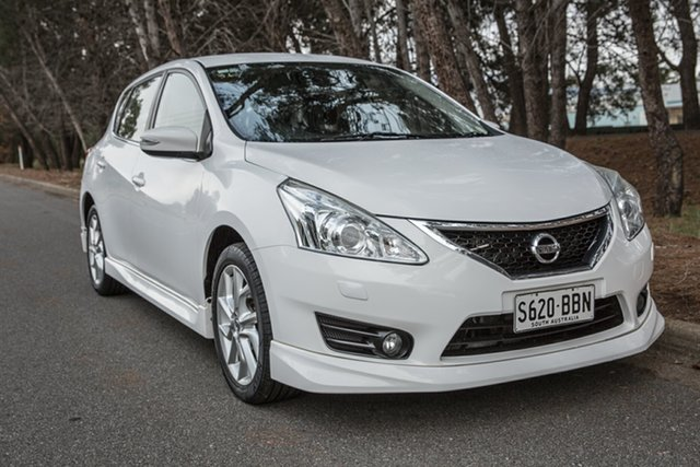 Used Nissan Pulsar C12 SSS, 2013 Nissan Pulsar C12 SSS White 1 Speed Constant Variable Hatchback