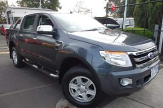 2012 Ford Ranger PX XLT Double Cab Grey 6 Speed Sports Automatic Utility.